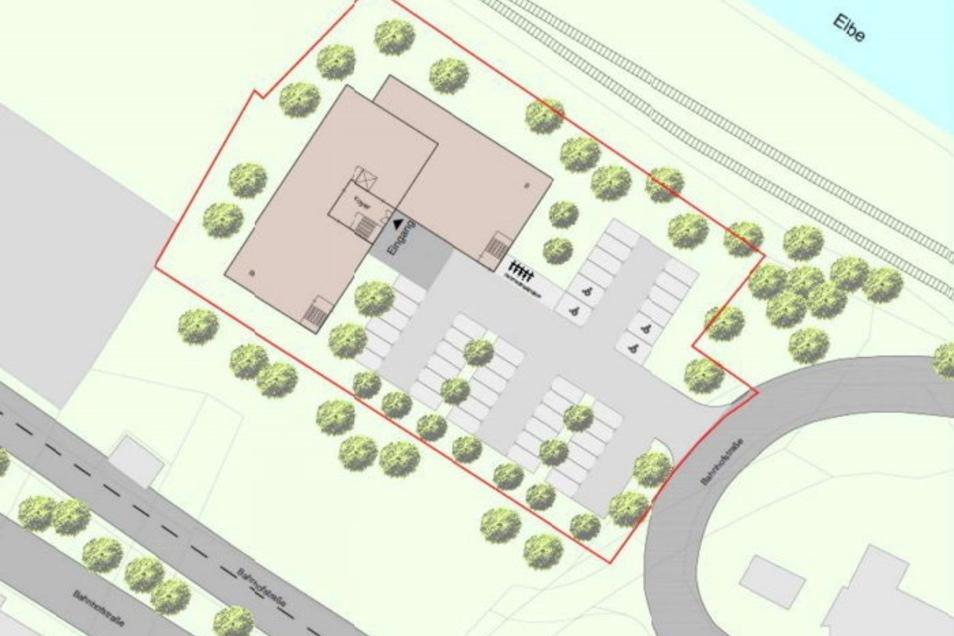 So könnte das MVZ samt Parkplätzen davor an der Elbstraße aussehen. Der Entwurf war beim Verkauf des elbnahen Grundstücks an einen Hentschke-Ableger im Mai publik geworden.