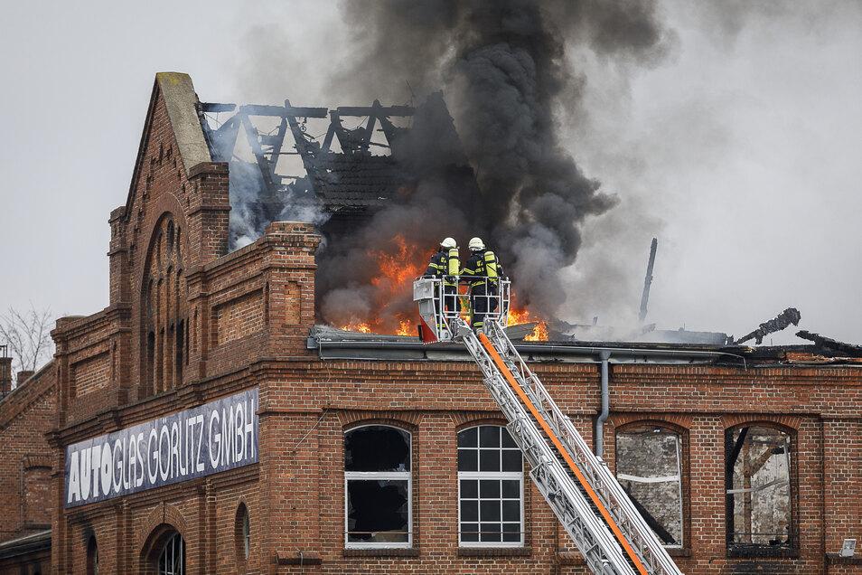 Am 25. Februar war der gesamte Gewerbekomplex an der Reichenbacher Straße niedergebrannt.