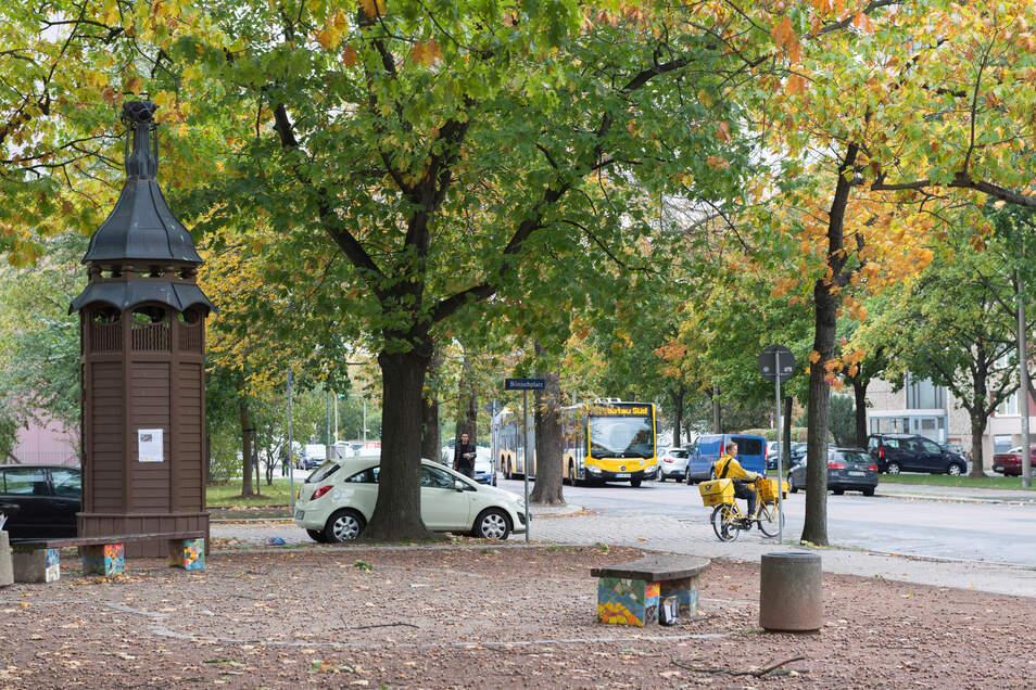 Auf dem Bönischplatz in der Dresdner Johannstadt soll im Sommer gefeiert werden.