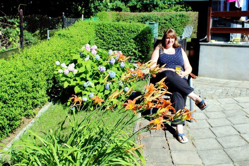 Jeanette Schömmel verbringt ihren Urlaub gern in ihrer alten Heimatstadt. Ein Besuch im Garten der Familie gehört im Sommer unbedingt dazu.