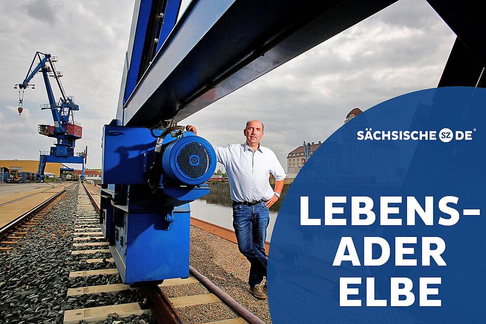 Heiko Loroff stammt aus Greifswald, segelt selbst und liebt das Maritime. Aber moderne Hafenwirtschaft im Binnenland habe damit heute wenig zu tun.