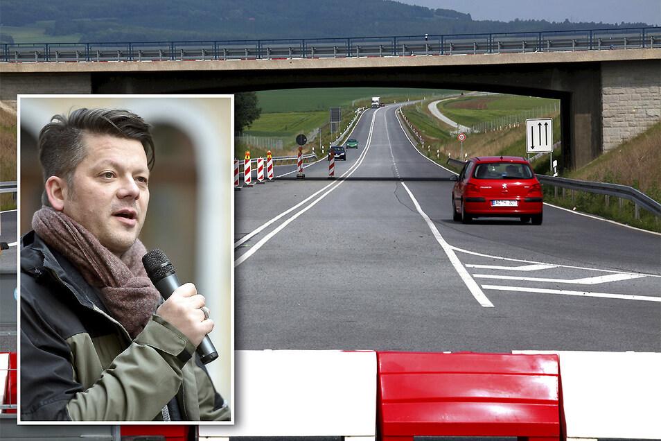 Zittaus OB Thomas Zenker ärgert sich über die Verzögerung beim Ausbau der B178n.