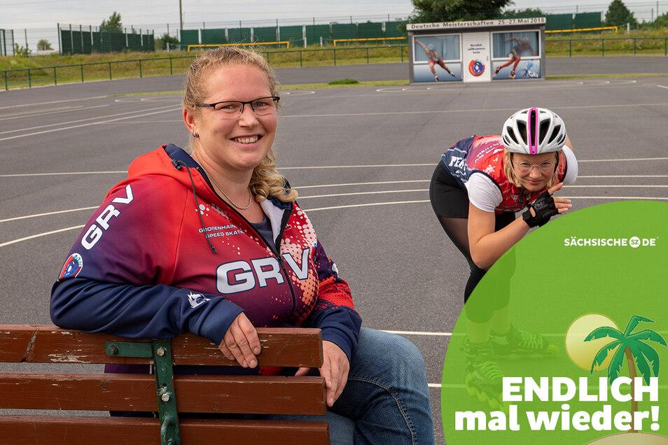 Stefani Herrmann vom Großenhainer Rollsportverein macht sich stark, um das Vereinsleben nach Corona wieder mit anzukurbeln. Tochter Jody hat den Re-Start bereits mit Edelmetall bei Meisterschaften geschafft.