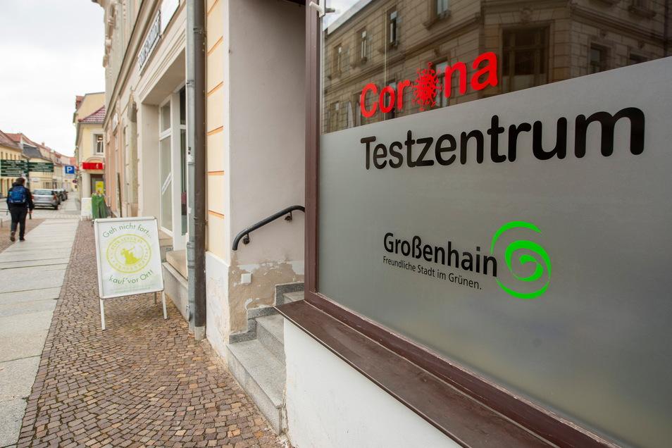 Das Corona-Testzentrum am Hauptmarkt wurde bisher in Eigenregie der Großenhainer Stadtverwaltung geführt. Nun wird es bald schließen.