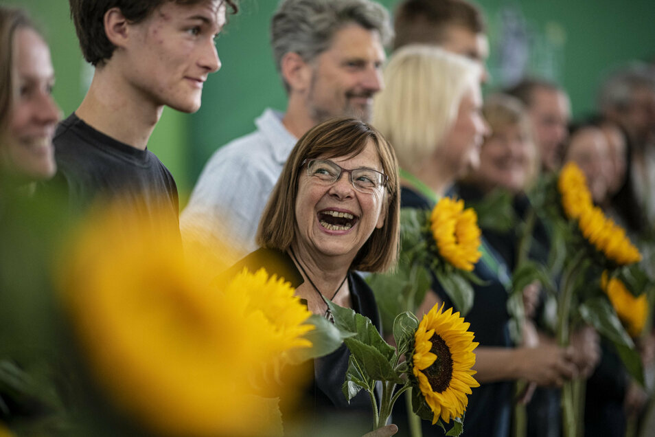 Ursula Nonnemacher (Bündnis 90/Die Grünen), Fraktionsvorsitzende im Landtag beim kleinen Parteitag der Bündnis 90/Die Grünen.