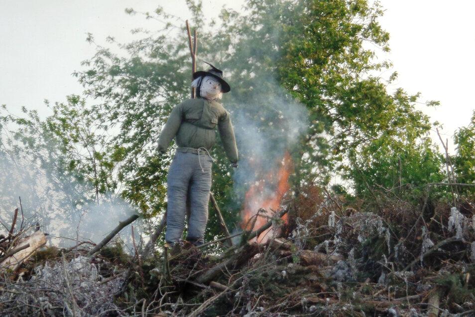 Das Maifeuer in Bauda - hier ein Bild aus dem Vorjahr - kann wie auch das Vogelschießen nicht stattfinden.