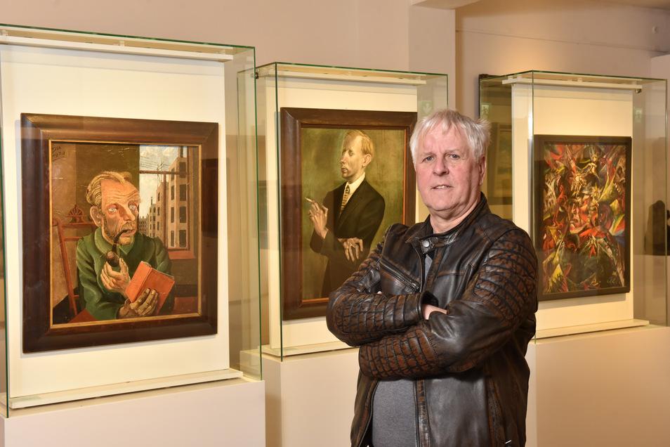 Rolf Günther, seit 1987 Direktor auf Schloss Burgk, rückte in seiner Amtszeit auch die Gemälde von Otto Dix ins rechte Licht.