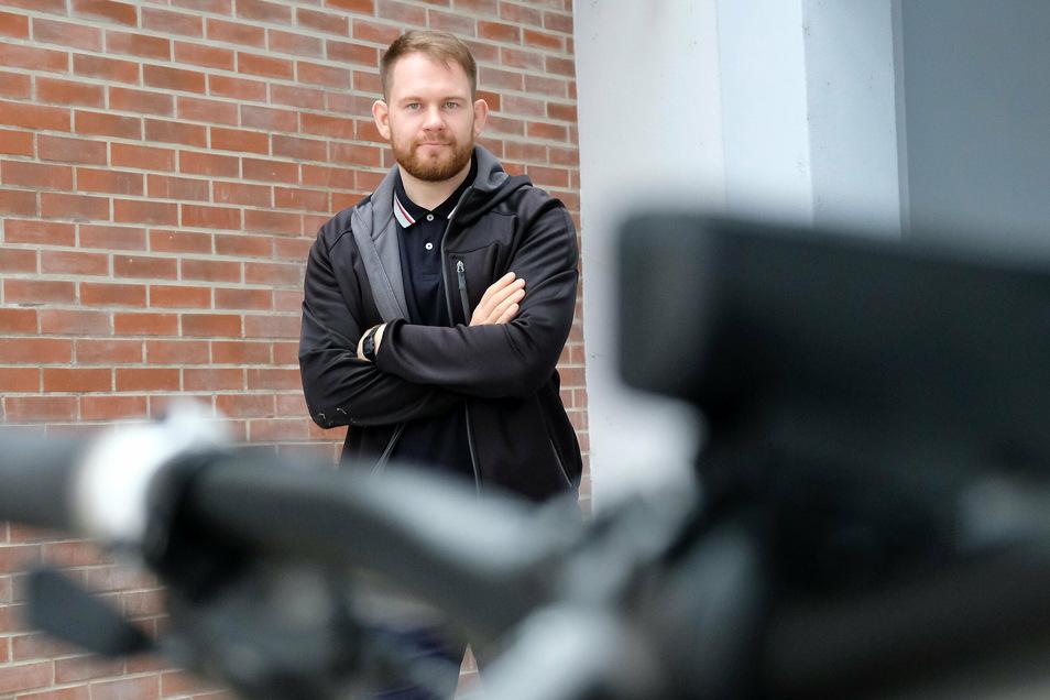 Das Fahrrad ist für ihn nicht nur ein Fortbewegungsmittel: Meißens neuer Verkehrsplaner Anatoly Arkhipov.