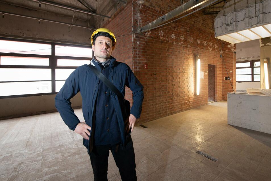 Christian Schneider betreut die Sanierung für das Studentenwerk Dresden.