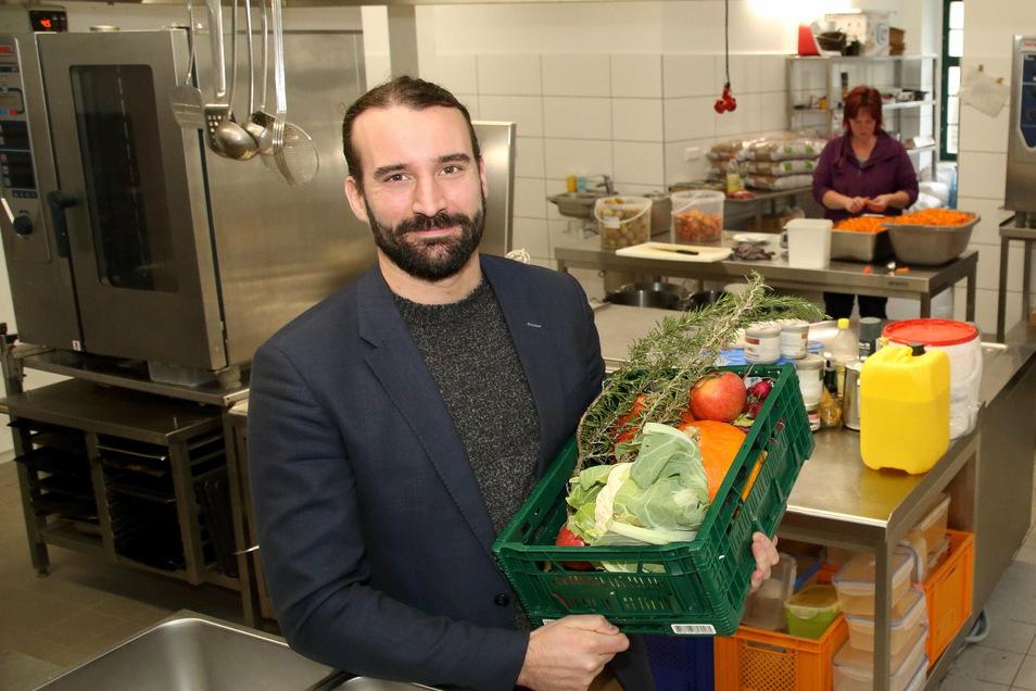 Jörg Daubner kocht in der Obermühle vor allem für Kindergartenkinder.