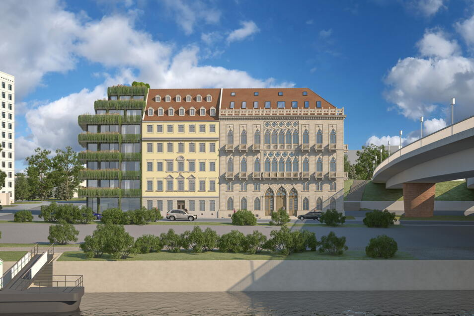 So könnte der Komplex um das Venezianisches Haus aussehen.