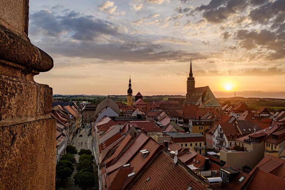 Mit diesem Ausblick vom Bautzener Reichenturm gewann Dietmar Buttig den SZ-Fotowettbewerb.