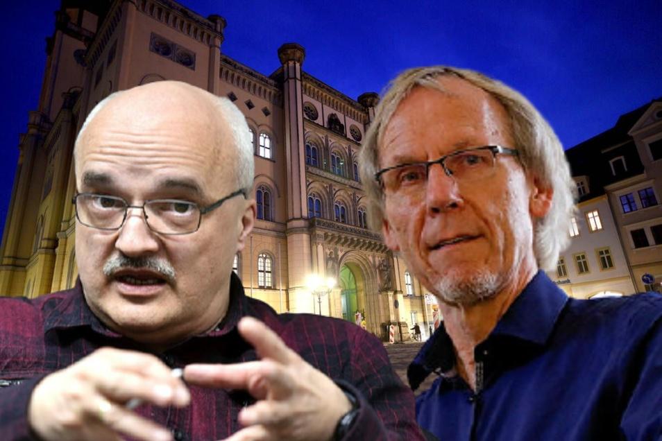 Horst Schiermeyer (rechts) widerspricht den Aussagen von Jörg Domsgen
