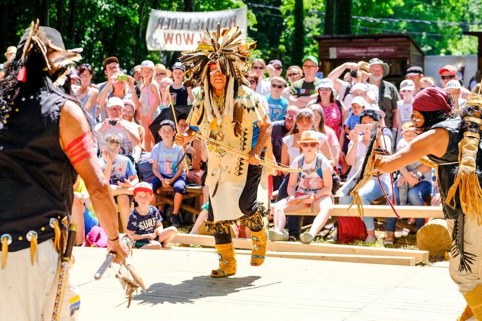 In diesem Jahr werden keine Indigenen im Lößnitzgrund auftreten und ihre Bräuche dem Publikum präsentieren.