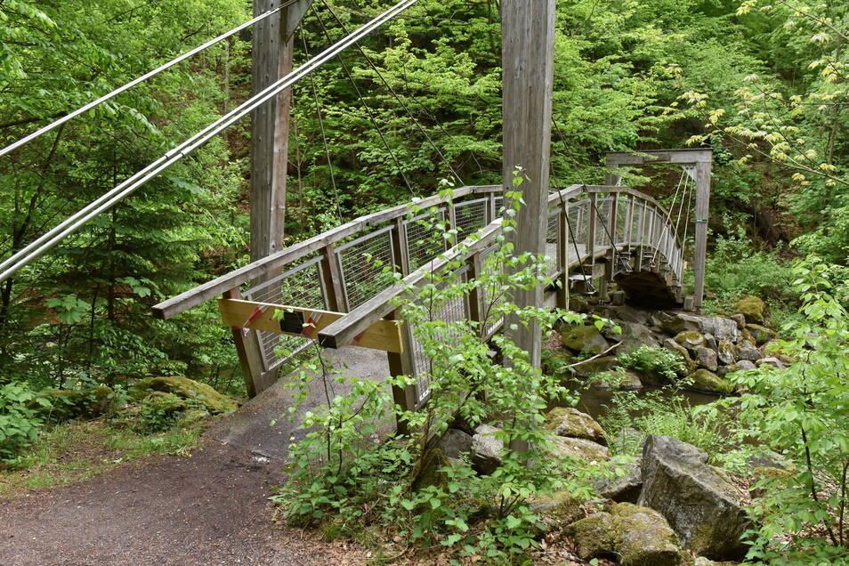 Die Arthur-Lohse-Brücke im Rabenauer Grund ist gesperrt.
