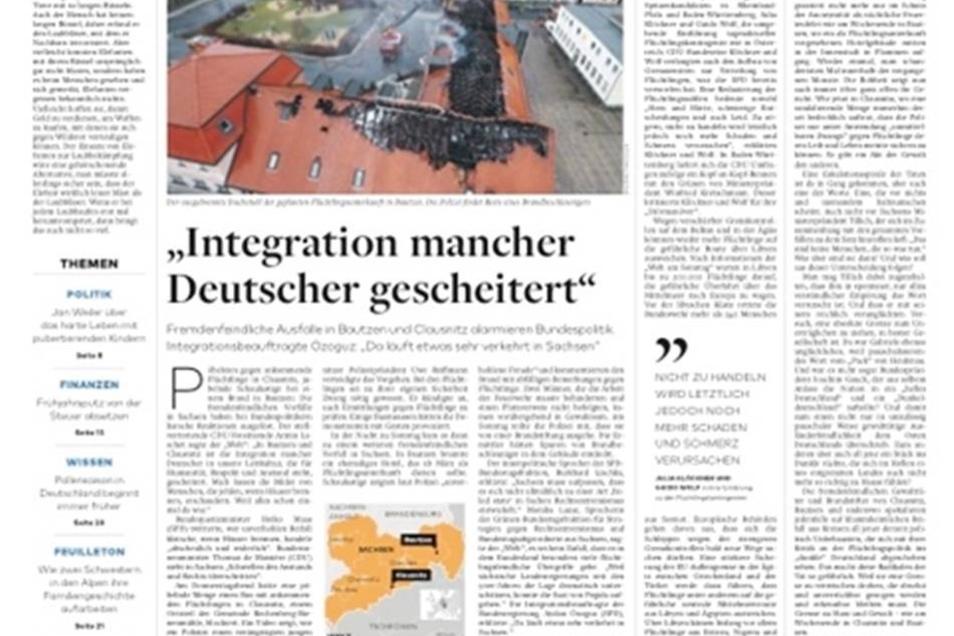 Die Vorfälle in Sachsen sind in der Presse bundesweit thematisiert worden. Eine Auswahl an Titelblättern.