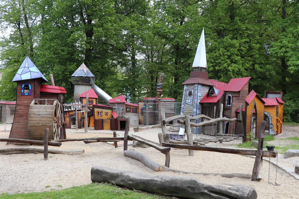 Wieder freigegeben: der Spielplatz im Görlitzer Stadtpark.