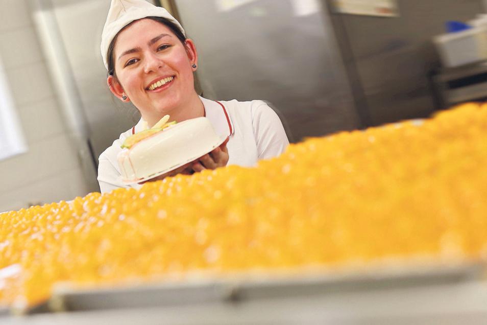 Sie ist ein Beispiel für die erfolgreiche Ausbildung beim Mühlenbäcker: Konditorin Frederike Bühler. Schon als Azubi gewann sie zahlreiche Preise.