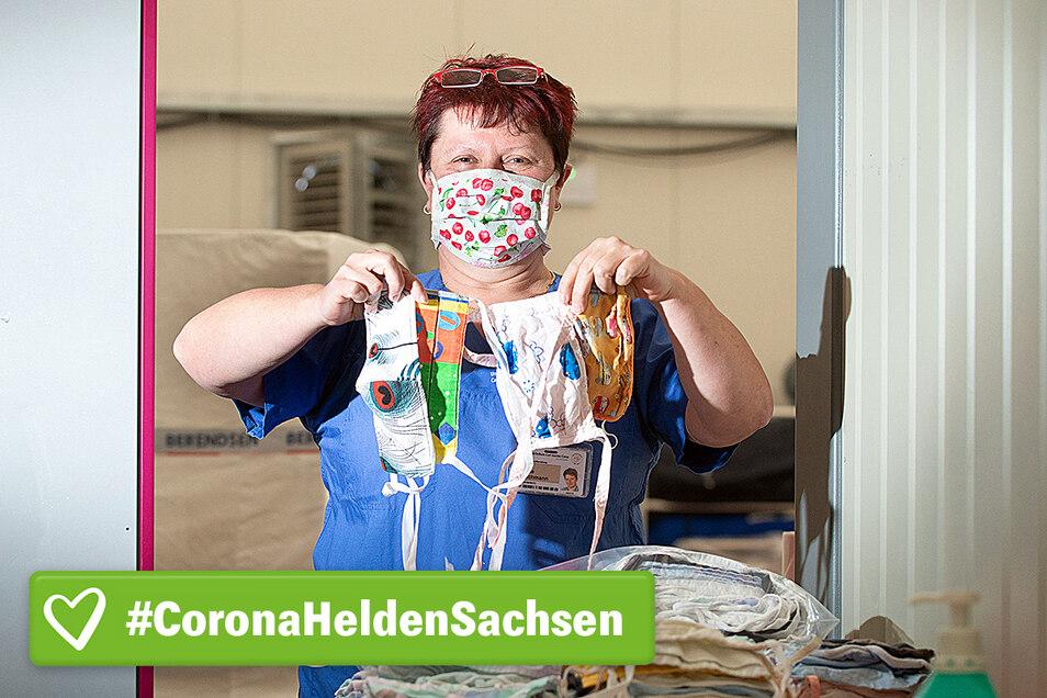 Schnell und unkompliziert hat Sabine Proschmann eine Lösung für all die Tausenden verschmutzten Stoffmasken gefunden, die im Dresdner Uniklinikum im Umlauf sind.