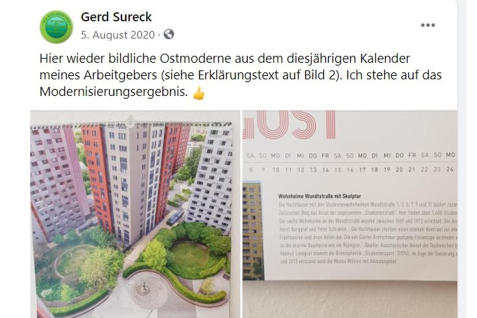 """In einer Facebook-Gruppe postete Sureck Bilder eines Kalenders """"seines Arbeitgebers""""..."""