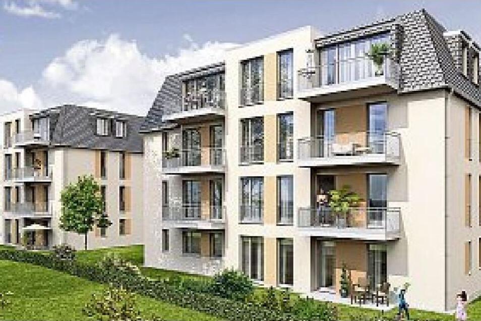 Mehrfamilienhäuser entstehen demnächst an der Bandweberstraße.