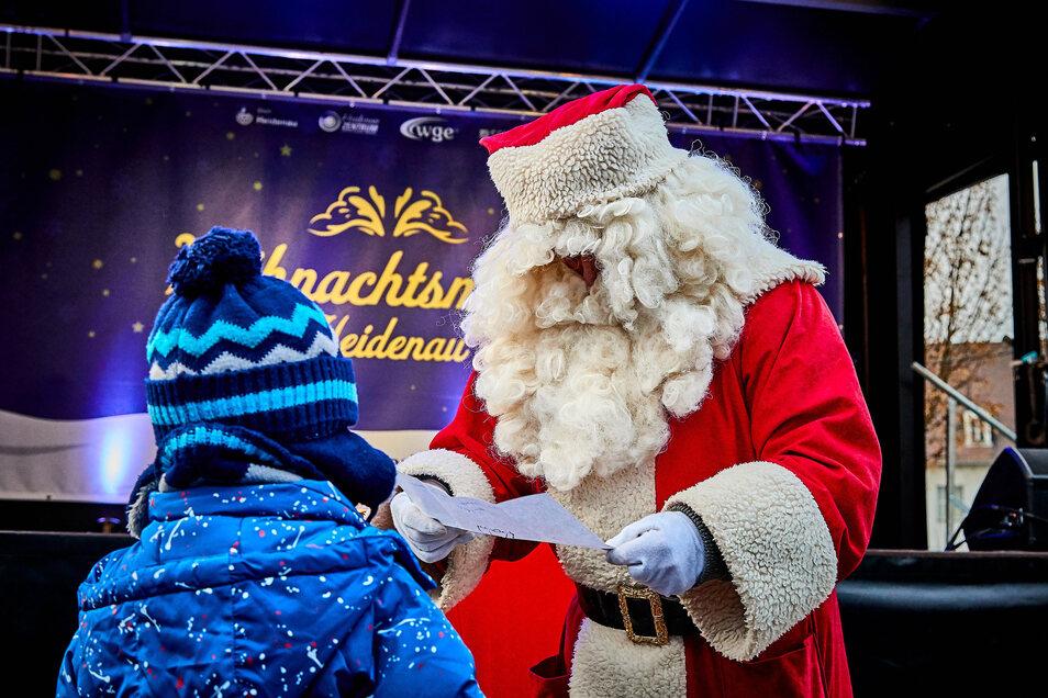 Die Wunschzettel müssen die Heidenauer Kinder diesmal woanders dem Weihnachtsmann übergeben.