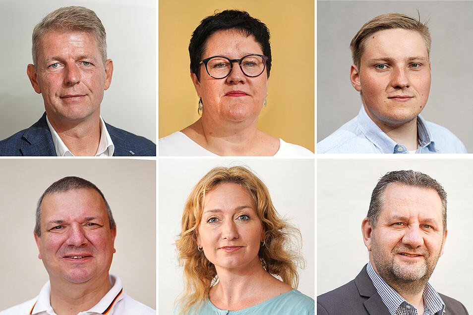 Bundestagswahl 2021 im Wahlkreis Bautzen I: Das sind die sechs Direktkandidaten der derzeit im Bundestag vertretenen Parteien.