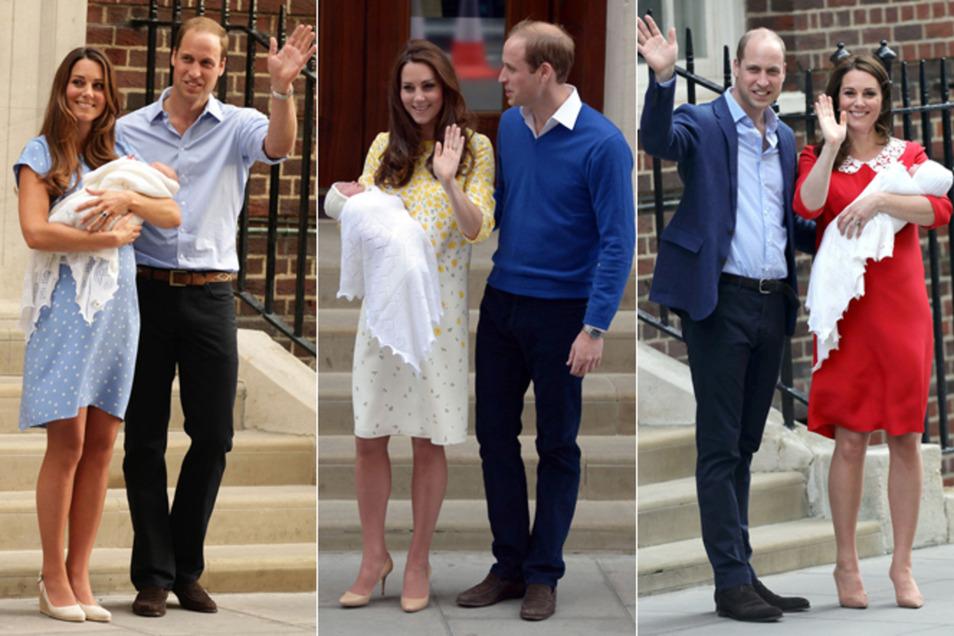 Harrys Bruder, Prinz William, überließ das Tragen seiner Kinder bei den Fototerminen immer seiner Frau Kate.