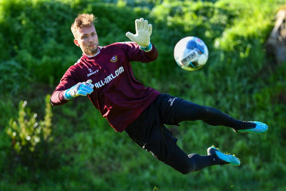 Torwart Tim Boss kam bei Dynamo Dresden nie über die Reservistenrolle hinaus. Ein Wechsel im Sommer ist wahrscheinlich.