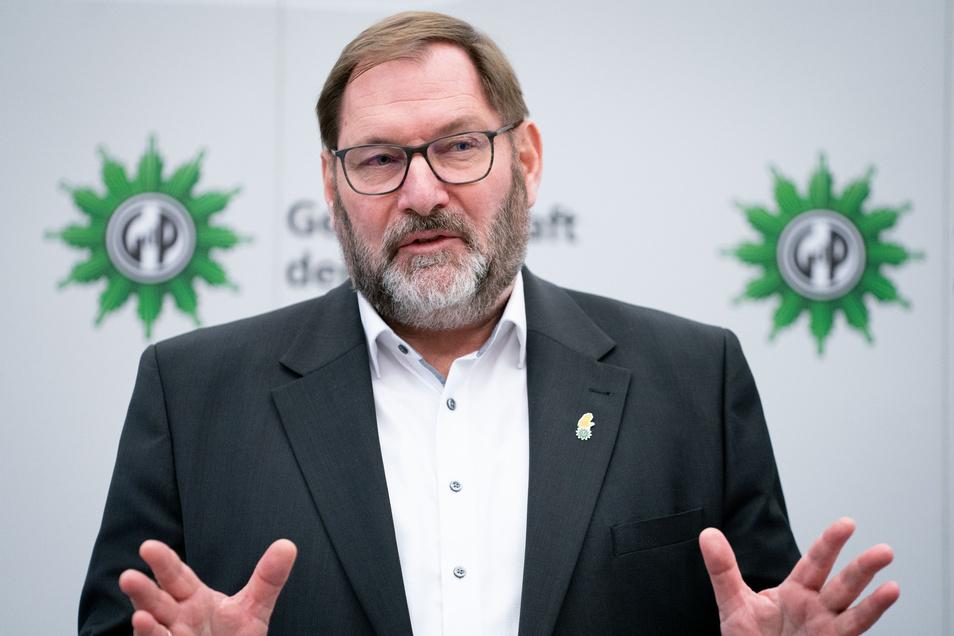 Jörg Radek, stellvertretender Bundesvorsitzender der Gewerkschaft der Polizei (GdP)