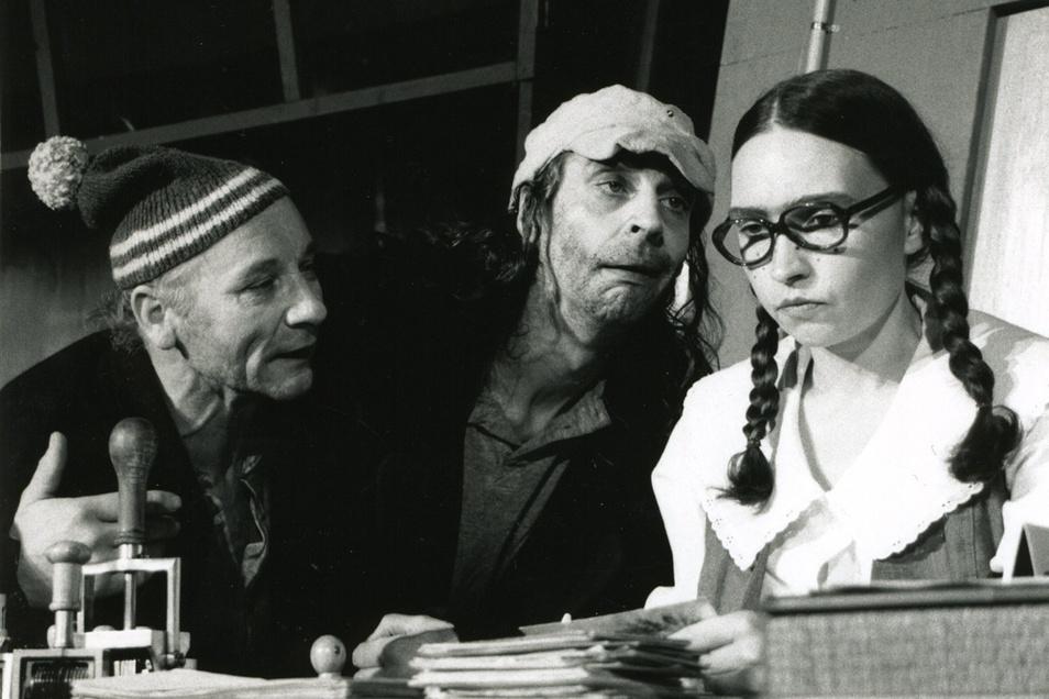 Auch der früh verstorbene Robert Wittmers (Mitte) gehörte zu den Bühnenpartnern von Detlef Lux.