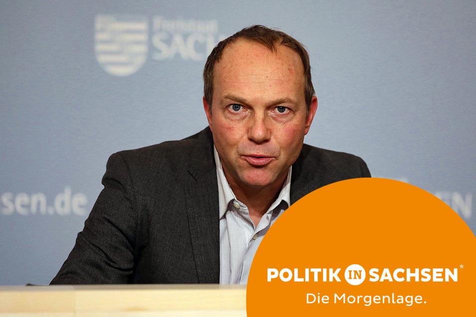 Sachsens Umweltminister Wolfram Günther kündigte am Montag erste Konsequenzen nach dem Hochwasser ins Ostsachsen an.