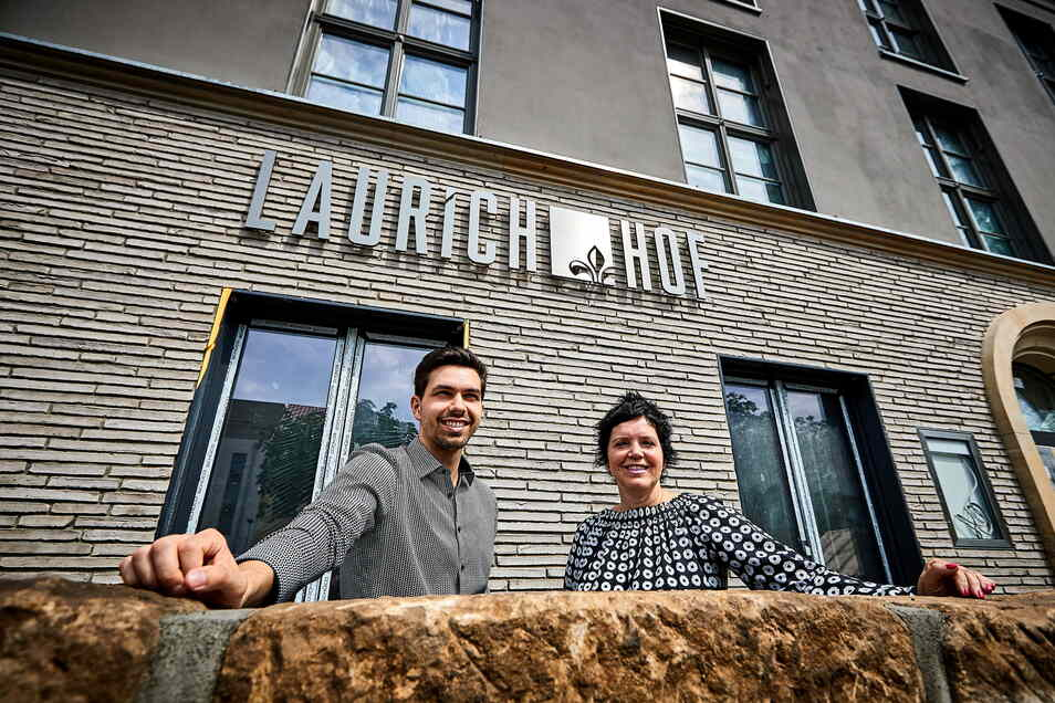 Hotelinhaber Franz Philip Seidel (l.) und Annette Katrin Seidel: Mit dem Laurichhof ein ganz neues Konzept entwickelt.