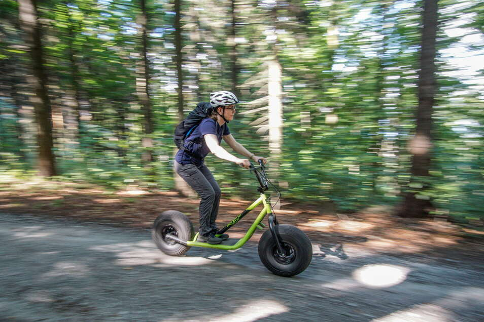 Beim Aktivtag, der im September im Landkreis Bautzen stattfinden soll, können Interessierte Monsterroller probefahren.