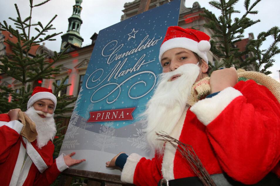 In den vergangenen Jahren war der Weihnachtsmann immer mit dabei auf dem Pirnaer Canalettomarkt. Und diesmal?