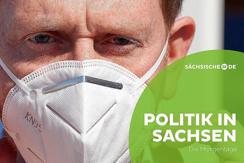 Ministerpräsident Michael Kretschmer mit Maske