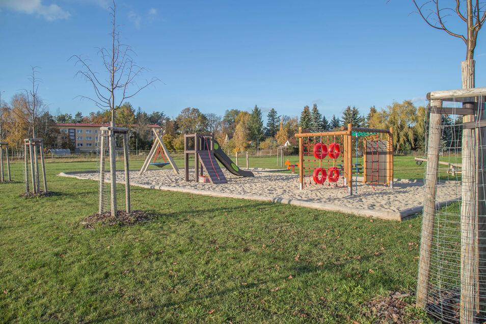 Der neue Spielplatz in Mücka.