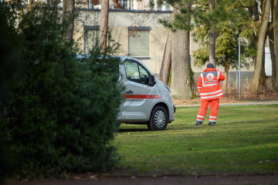 Auf dem Gelände der DRK Kliniken Berlin-Köpenick kommen die 20 Rückkehrer in Quarantäne.