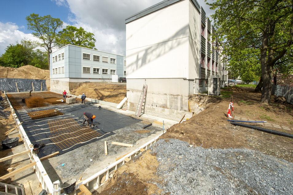 Das Fundament für das neue Gebäude der Schneider Systembau GmbH in Radeburg kann bald gegossen werden.
