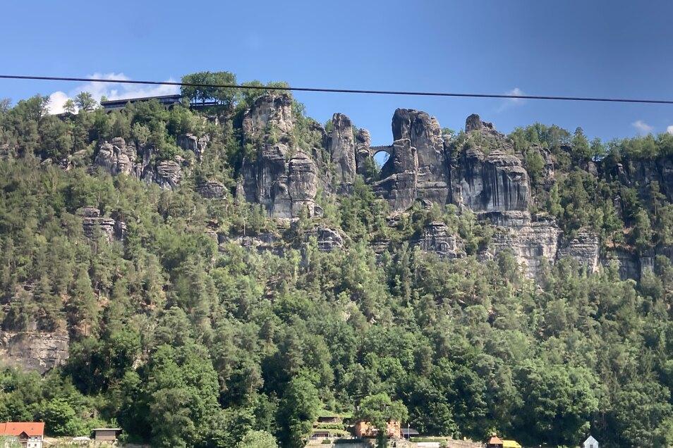 Die weltberühmte Bastei erreicht man nun von Zittau aus per Zug durch die Böhmische Schweiz.