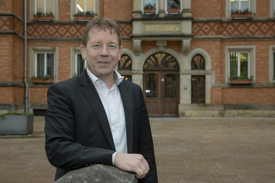 Seit 14 Jahren Tharandts Bürgermeister, jetzt für weitere sieben Jahre gewählt: Silvio Ziesemer.