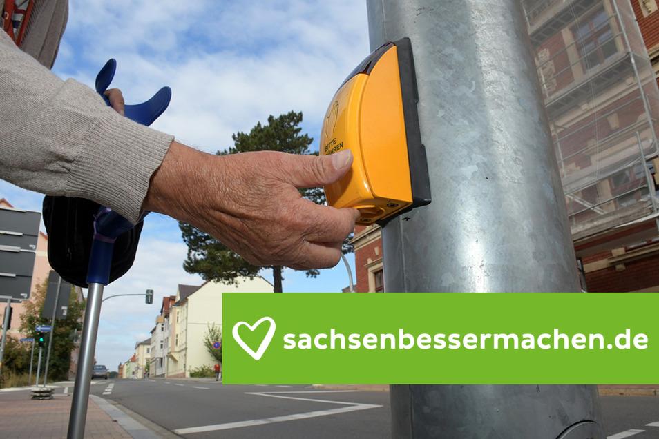 Noch müssen die Roßweiner den Blindentaster betätigen, wenn sie nicht in fünf, sondern in neun Sekunden zwischen der alten Post und der Sparkasse die Straßenseite wechseln wollen. Ab Dezember soll sich das ändern.