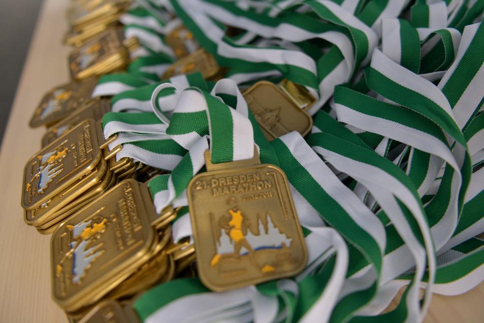 Eine Medaillen bekommt jeder Teilnehmer als Erinnerung.Foto: Cristian Juppe