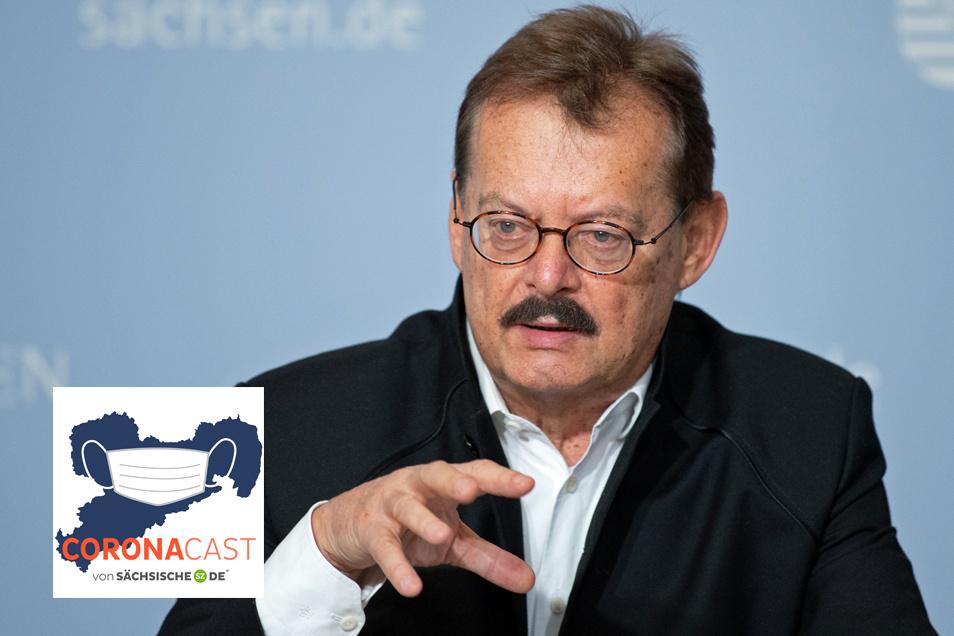 Professor Dr. Michael Albrecht leitet die Dresdner Uniklinik. Im CoronaCast erklärt er, wie verlässliche Prognosen für die Klinikbelastung in Sachsen erstellt werden.