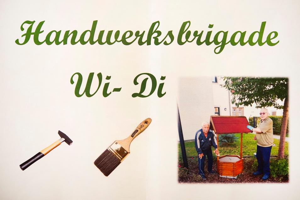 Willi Stelzig (l.) und Dieter Engelmann sind die beiden agilen Männer hinter der selbst ernannten Handwerksbrigade Wi-Di des Seniorenzentrums auf der Großenhainer Mozartallee.