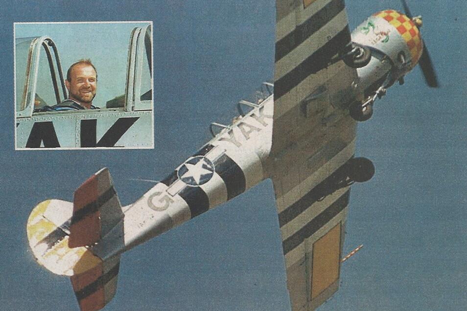 SZ-Redakteur Manfred Müller wagte sich beim Kunstflug als Copilot in die Lüfte.