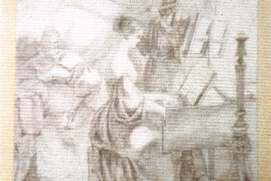 """Carl Spitzweg: Er war ein fleißiger Maler, dieser Carl Spitzweg. Über 1.500 Bilder und Zeichnungen schuf er und verkaufte schon zu Lebzeiten 400 Gemälde. So richtig lieben lernte man ihn nach dem Zweiten Weltkrieg. Dieses """"Musizierende Paar"""" ist eine Vorzeichnung zu einem seiner Gemälde."""