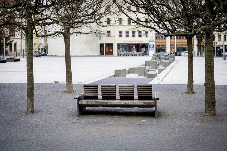 Der Marienplatz ist leer gefegt, was ausnahmsweise gut so ist.