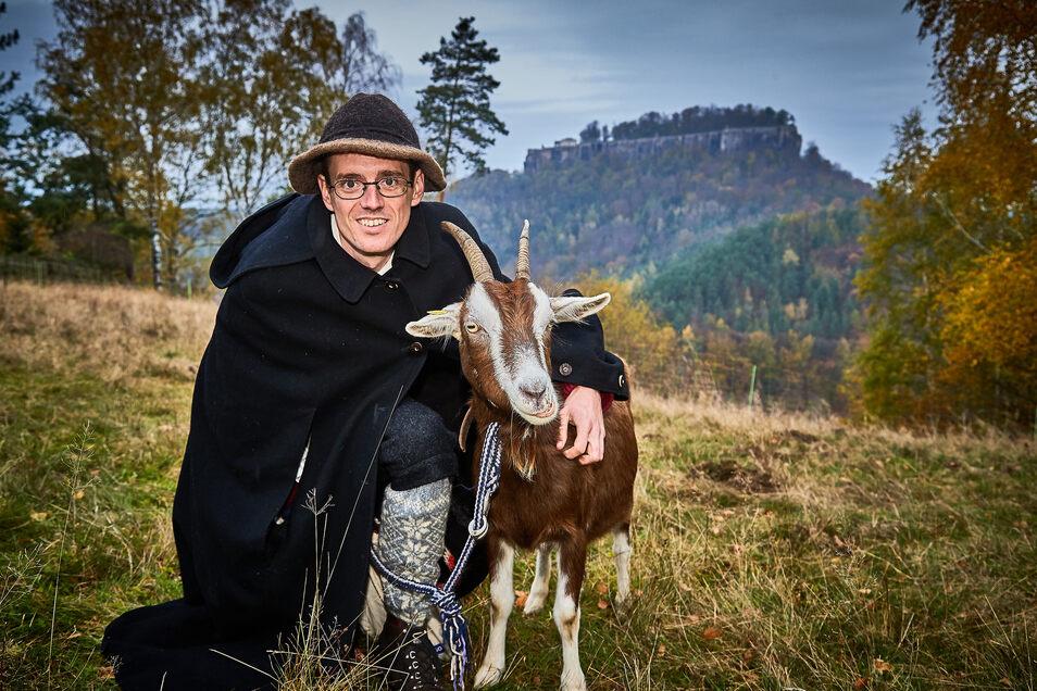 Alles für die Ziegen: Hirte Patrick Pietsch.