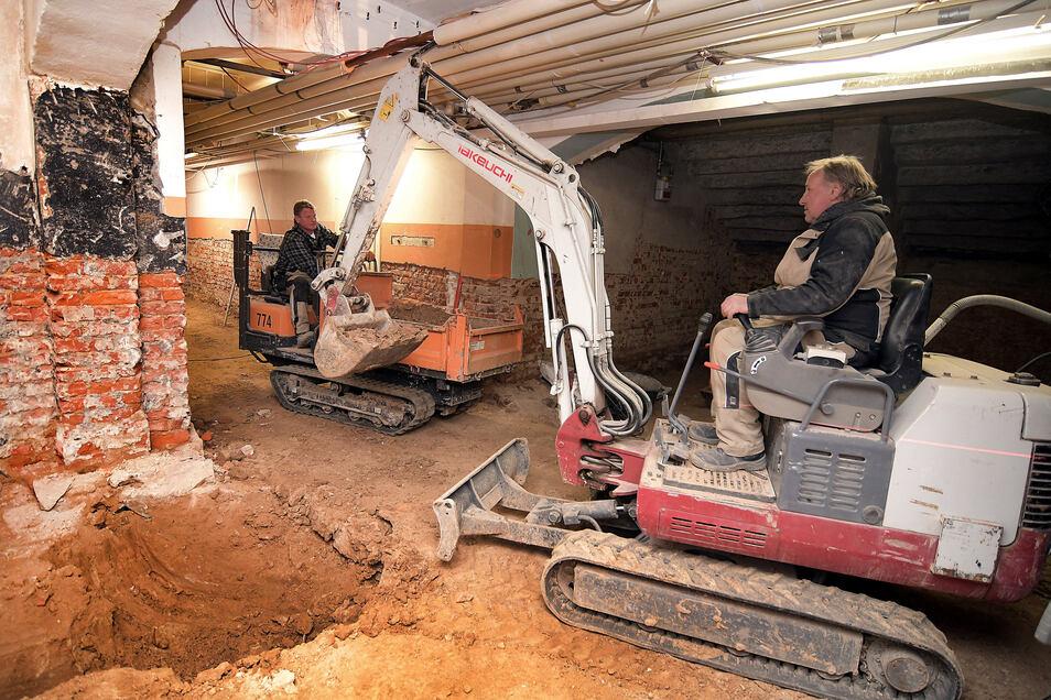Die Pestalozzi-Schule in Hartha ist seit dem Herbst 2018 im Bau. Nun beginnt der dritte Bauabschnitt. Unter anderem im Keller.